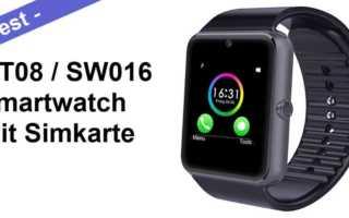 GT08 Smartwatch Test – die mit der man auch telefonieren kann
