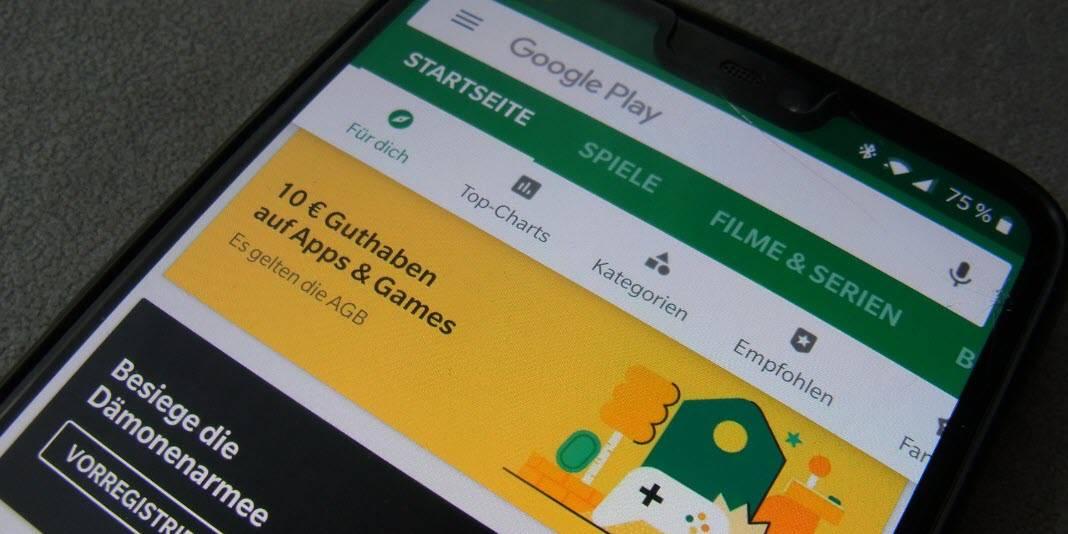 Aktion - bis zu 10 Euro gratis Google Play Store Guthaben