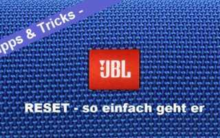 JBL Reset – JBL Bluetooth Lautsprecher zurücksetzen leicht gemacht