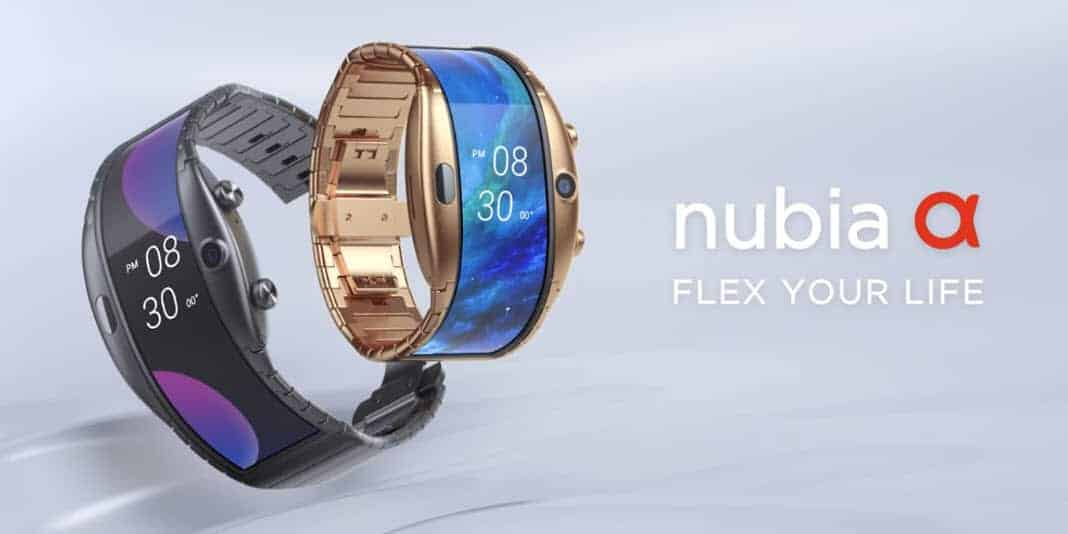 Nubia Alpha - eine Smartphonewatch mit biegsamen Display