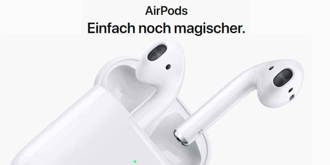 Apple AirPods 2 - jetzt kabellos zu Laden und längerer Sprechzeit