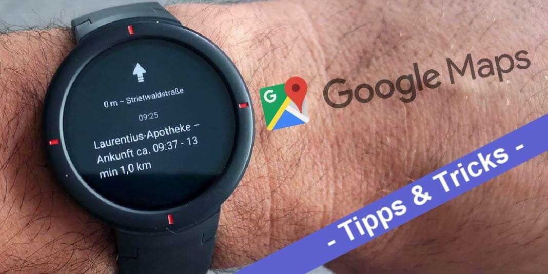 Amazfit Navigation - so bekommt man Google Maps auf die Smartwatch