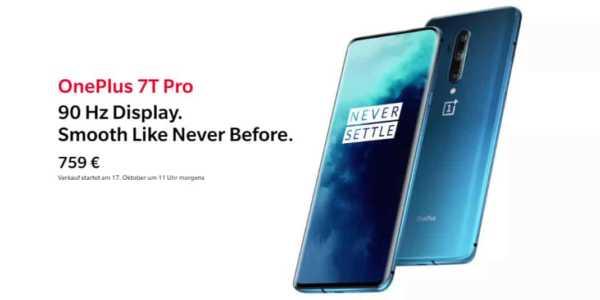 OnePlus 7T Pro - alle Daten, Infos und die Preise