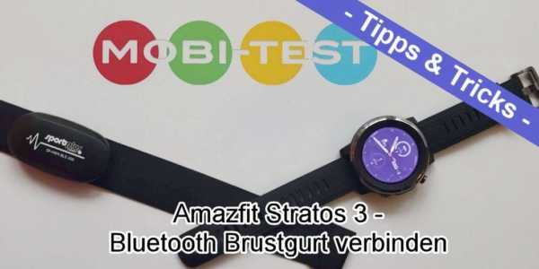 Amazfit Stratos 3 Bluetooth Brustgurt verbinden - so geht es