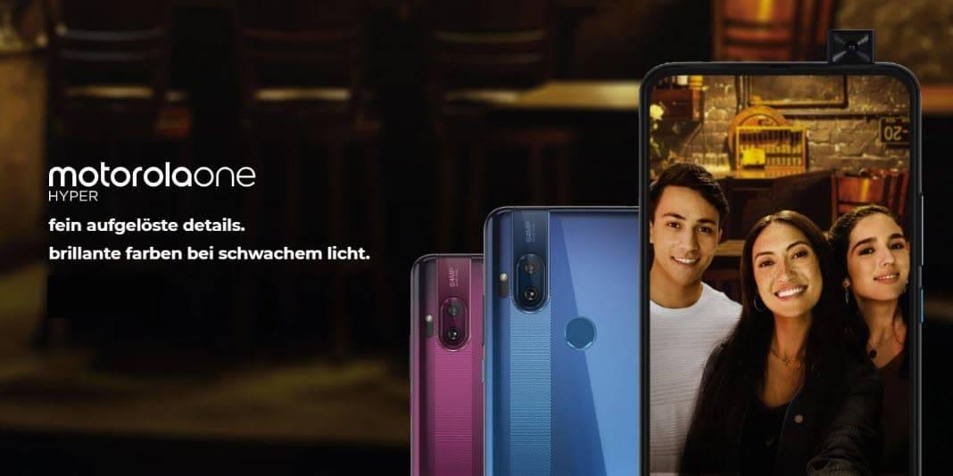Motorola One Hyper mit Pop-Up Kamera vorgestellt