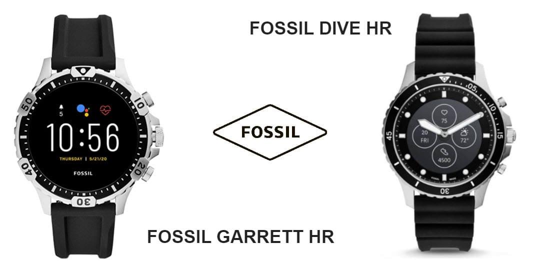 Fossil Dive HR und Fossil Garrett HR vorgestellt