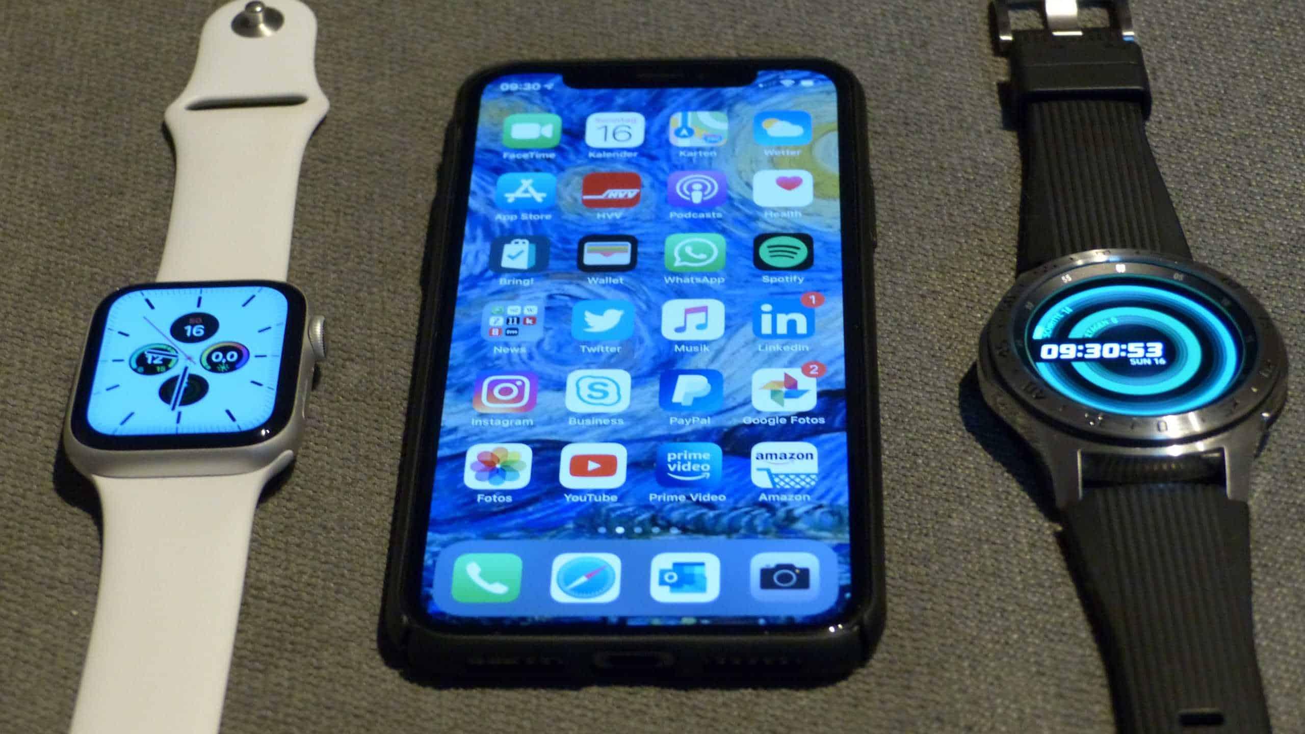 Samsung Galaxy Watch mit dem iPhone nutzen. Funktioniert das und ist es sinnvoll?
